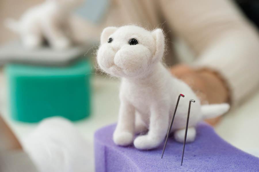 Войлок: мама для котёнка