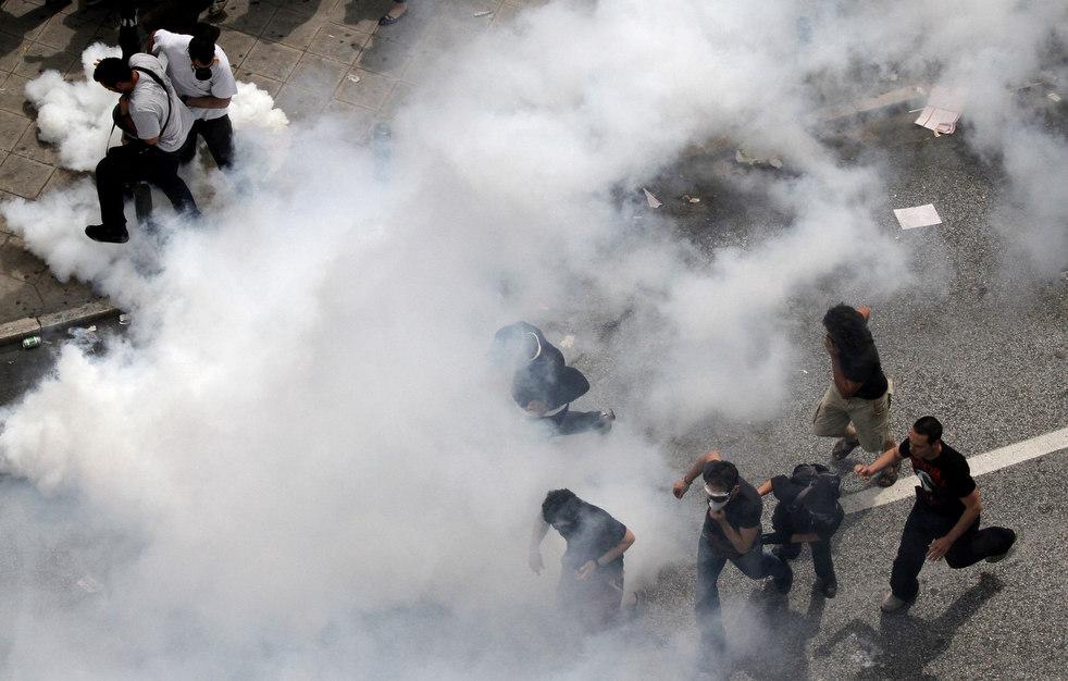 2845 Греческие демонстрации