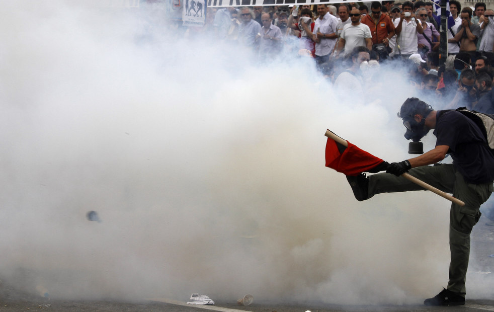 3042 Греческие демонстрации