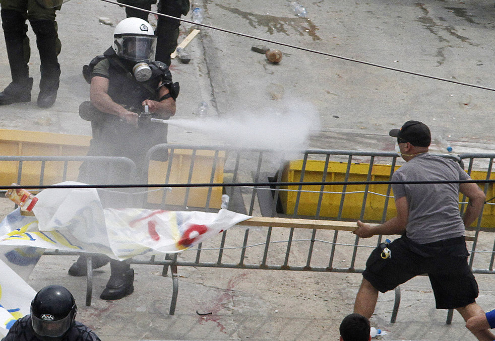 3193 Греческие демонстрации