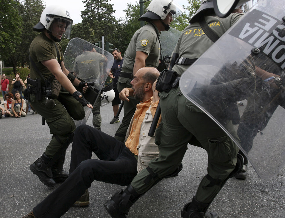 3241 Греческие демонстрации