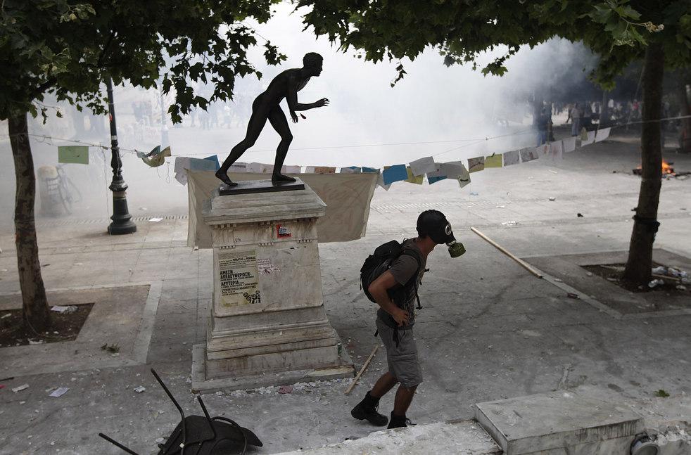 3529 Греческие демонстрации