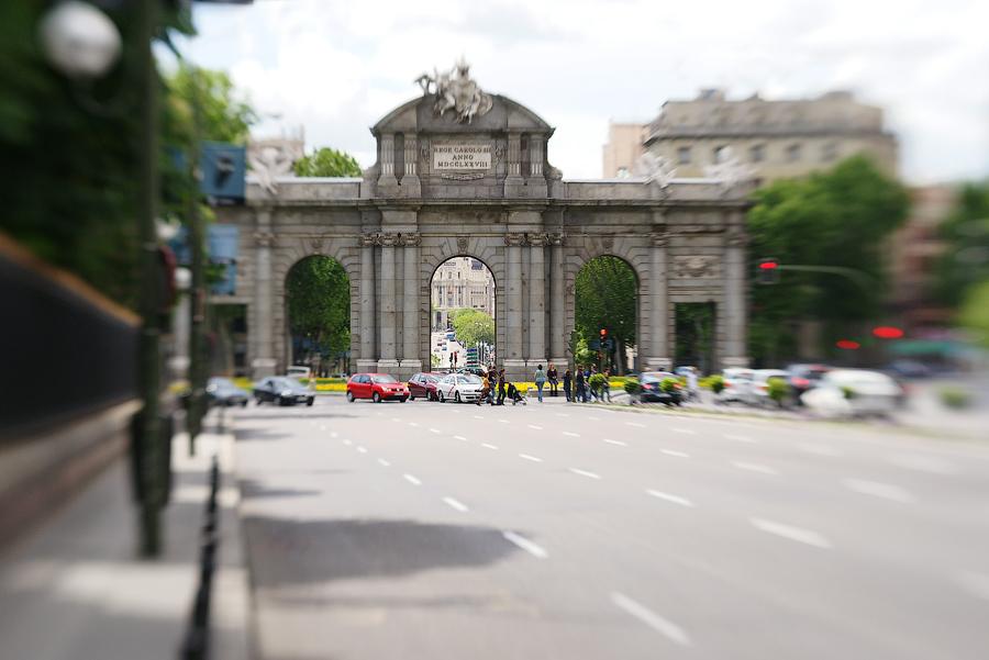 Мадрид в объективе lensbaby.