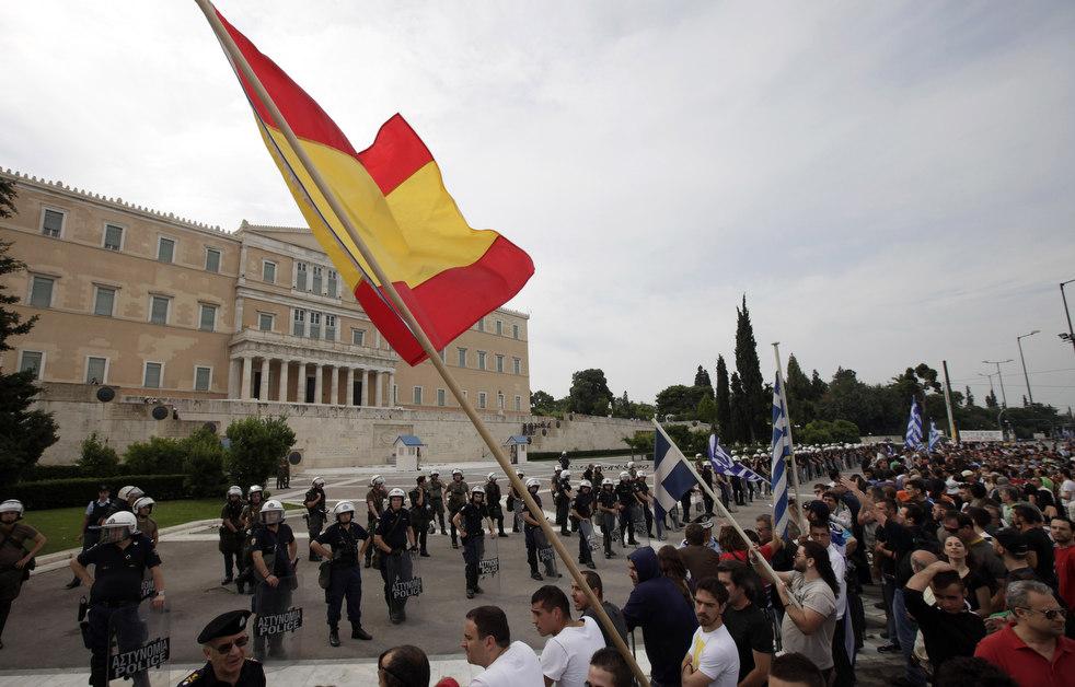 7100 Греческие демонстрации