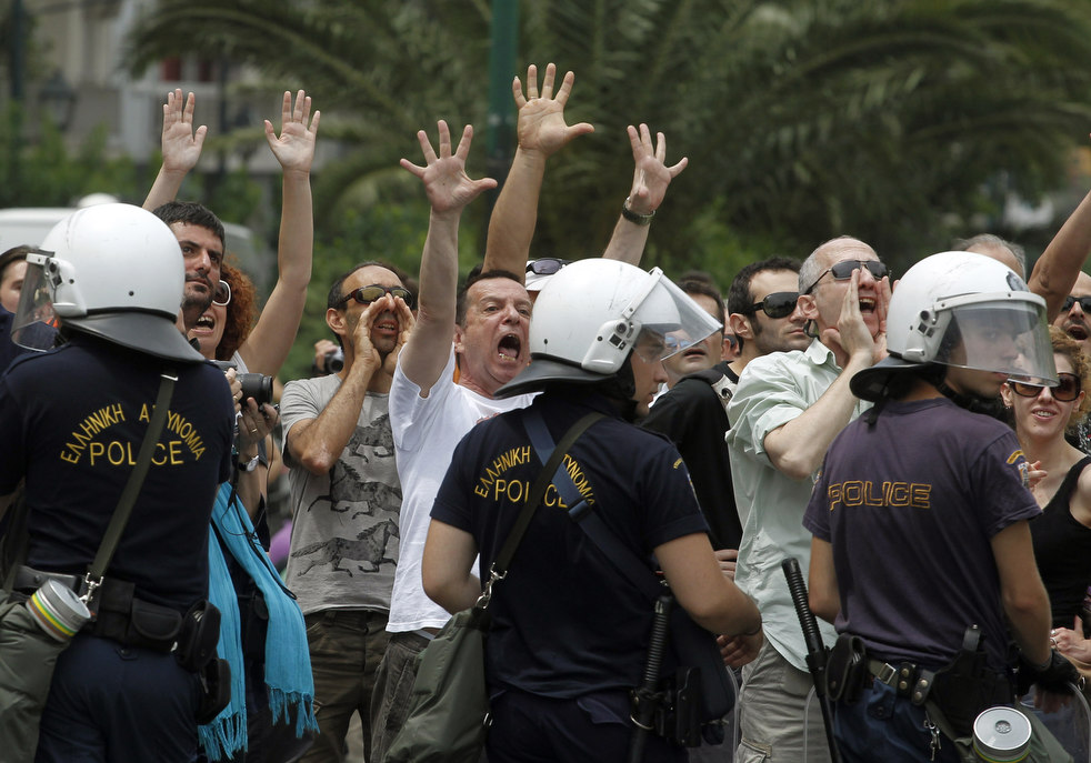 989 Греческие демонстрации