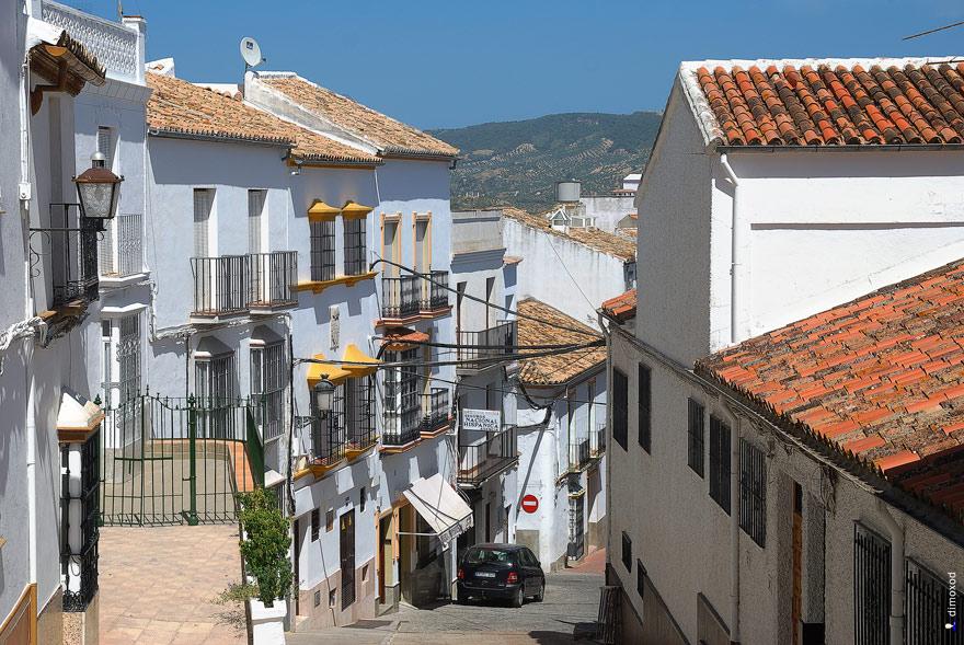 Белые домики и оливки