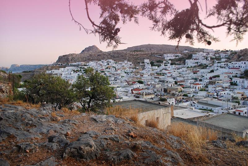 Греция, Родос, город Линдос