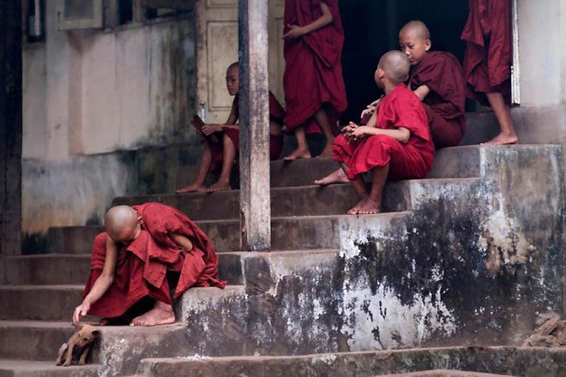 Повседневная жизнь монастырей Бирмы