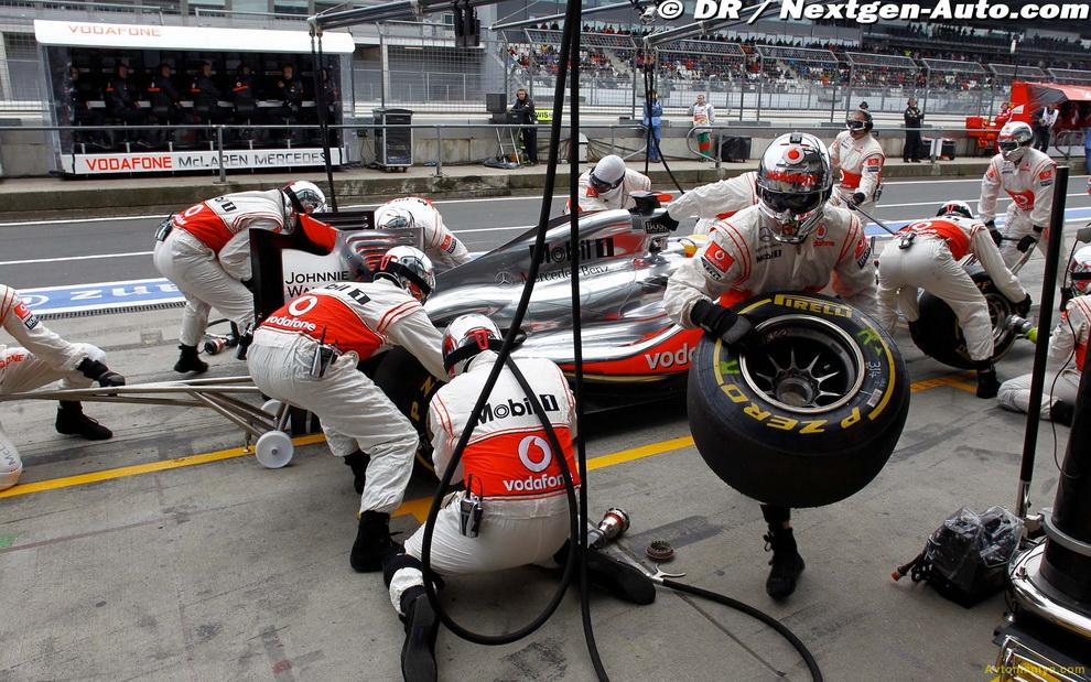 Необычные фото Формулы-1, Гран-при Германии 2011: гонка