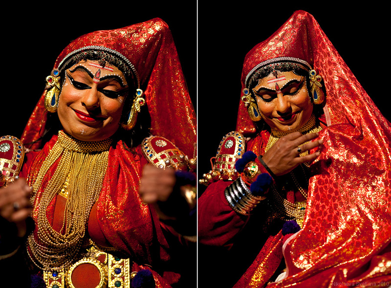 2357 India Selatan Kathakali Teater: The Art of menerapkan makeup