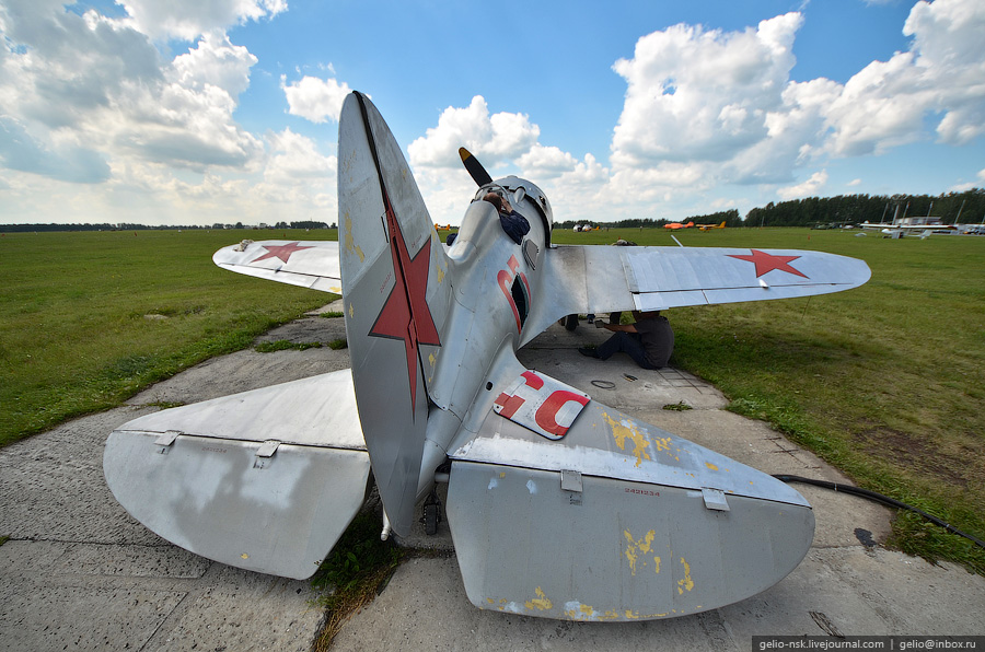 """Аэродром """"Мочище"""". Летные испытания И-16 (2011)"""