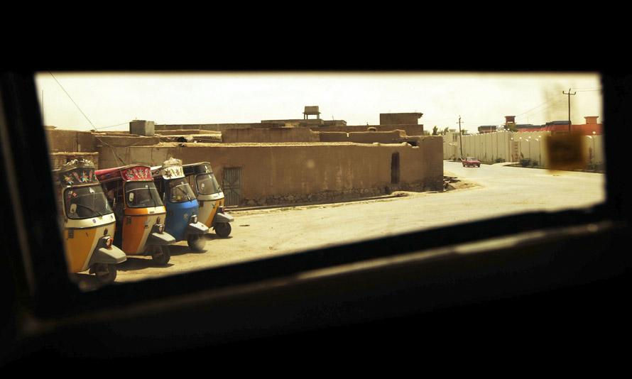 Взгляд на Кандагар с борта бронетранспортера M-ATV
