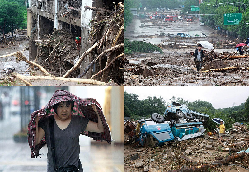 BIGPIC97 В Южной Корее льют дожди века и гибнут люди
