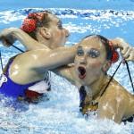 Смешные лица пловцов
