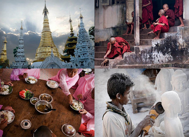 000 Будничная жизнь бирманских монахов