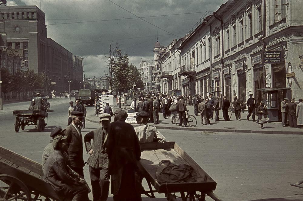 07000000 Харьков времен немецкой оккупации в цвете