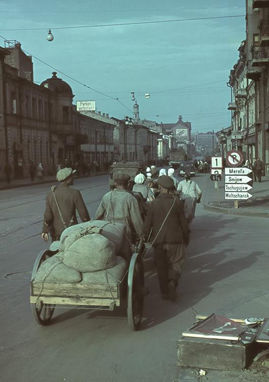 17000000 Харьков времен немецкой оккупации в цвете