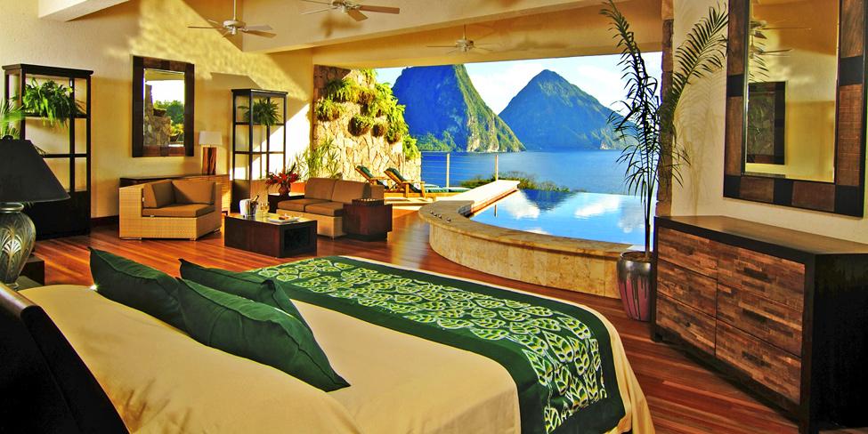 Отель Jade Mountain – роскошь в Карибском мореMountain