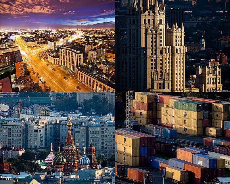 BIGPIC41 Виды Москвы с крыши делового комплекса «Домников»