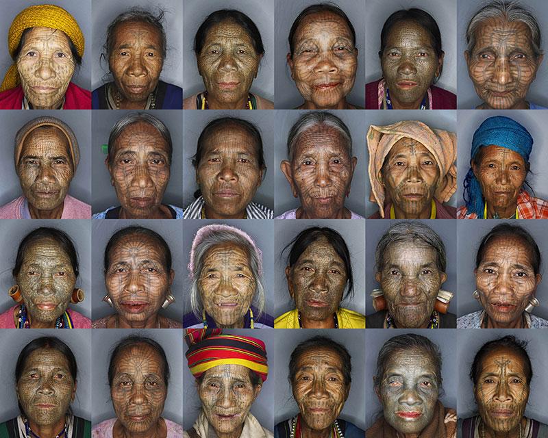 BIGPIC9 Татуированные лица женщин народности чин из Бирмы
