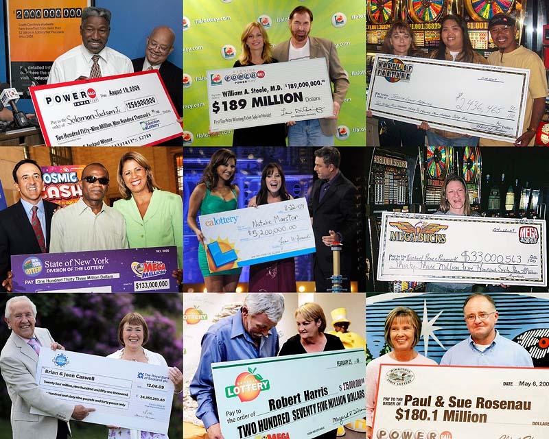 Люди выигрывают в лотереях
