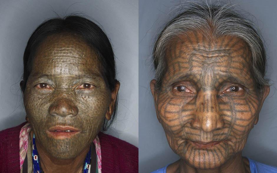 Татуированные лица женщин народности