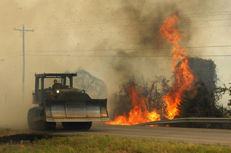 Лесные пожары бушуют в Техасе