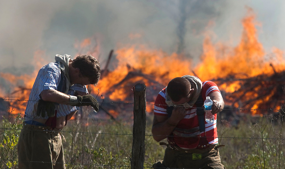 Засуха и лесные пожары в Техасе