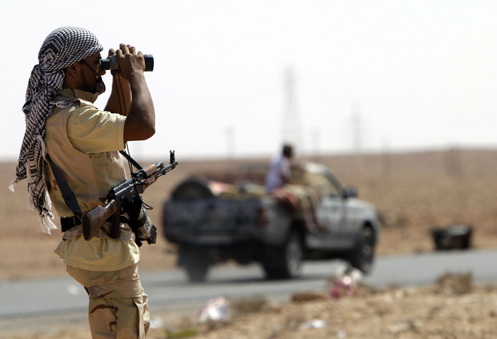 13 172 pemberontak menyerang di Libya sisa perlawanan pasukan Gaddafi