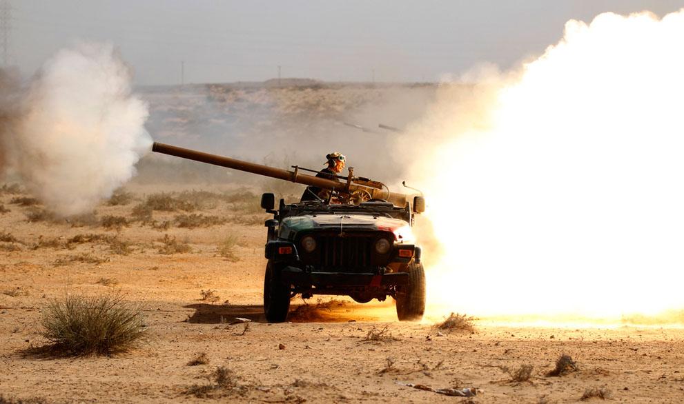 14 159 pemberontak menyerang di Libya sisa perlawanan pasukan Gaddafi