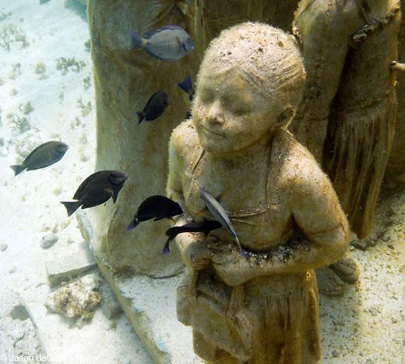 157442 t Подводные скульптуры превращаются в чудеса природы