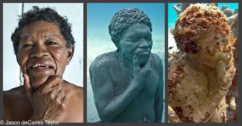 157450 t Подводные скульптуры превращаются в чудеса природы