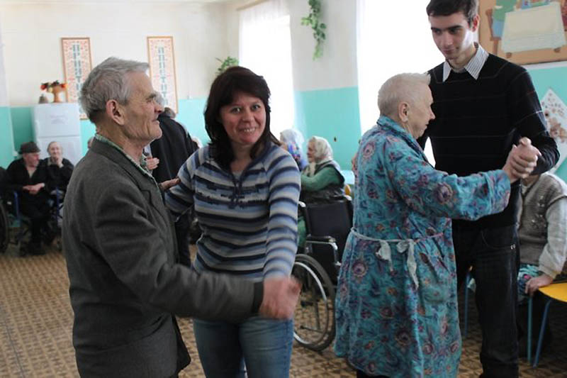 Один праздничный день в доме престарелых
