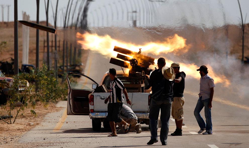 Serangan Pemberontak 2609 di Libya sisa perlawanan pasukan Gaddafi