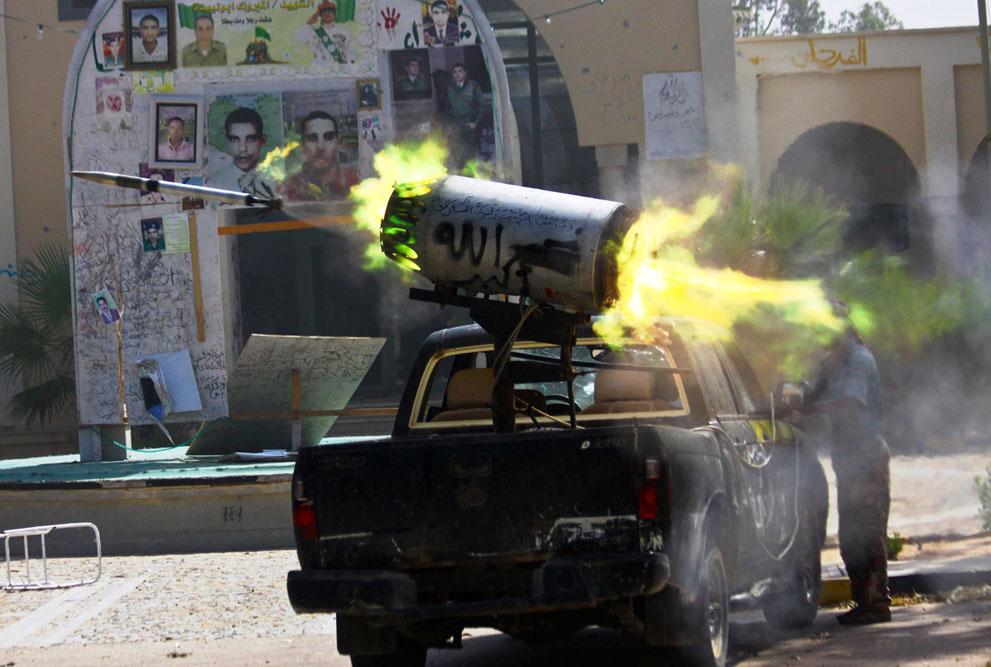 Serangan Pemberontak 3396 di Libya sisa perlawanan pasukan Gaddafi