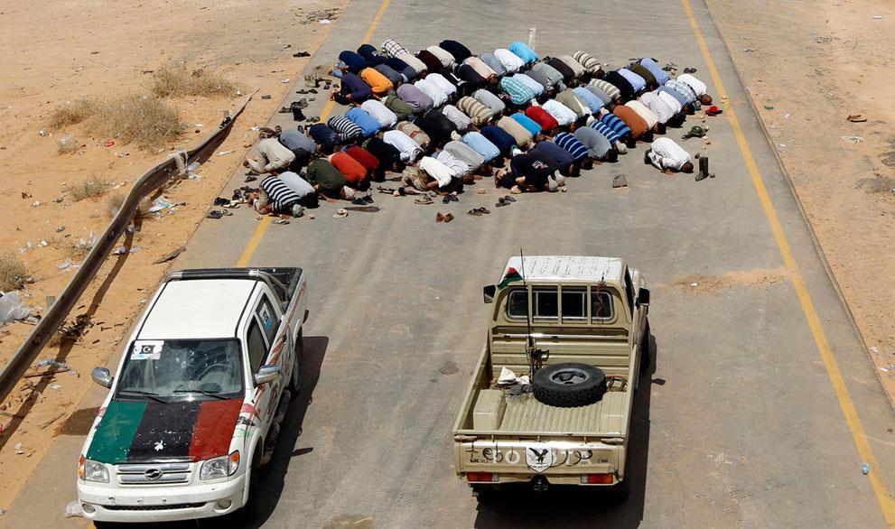 Serangan Pemberontak 3469 di Libya sisa perlawanan pasukan Gaddafi