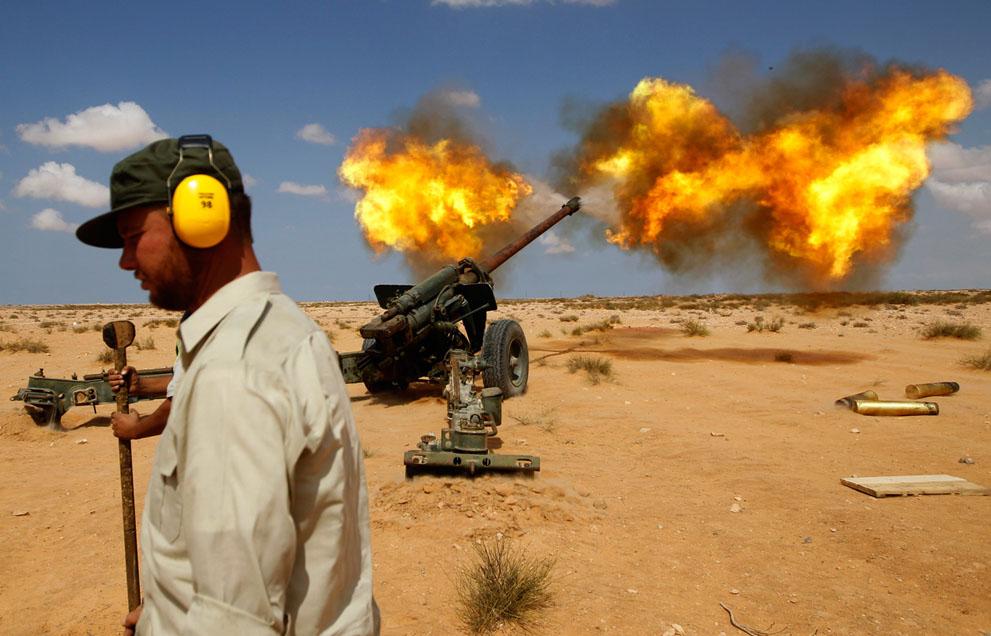 Serangan Pemberontak 3755 di Libya sisa perlawanan pasukan Gaddafi