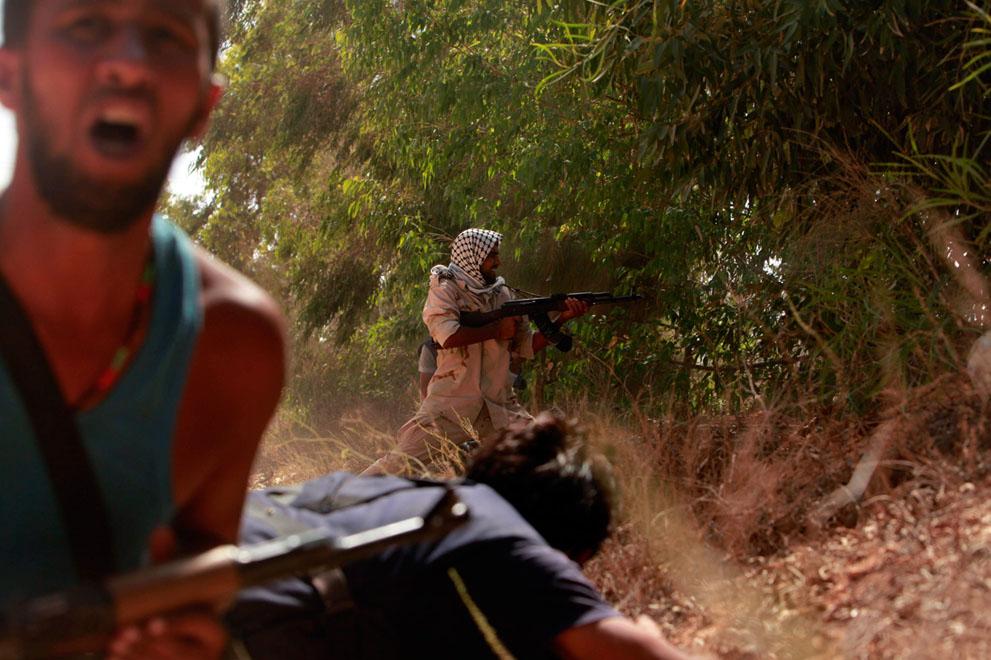Serangan Pemberontak 3948 di Libya sisa perlawanan pasukan Gaddafi