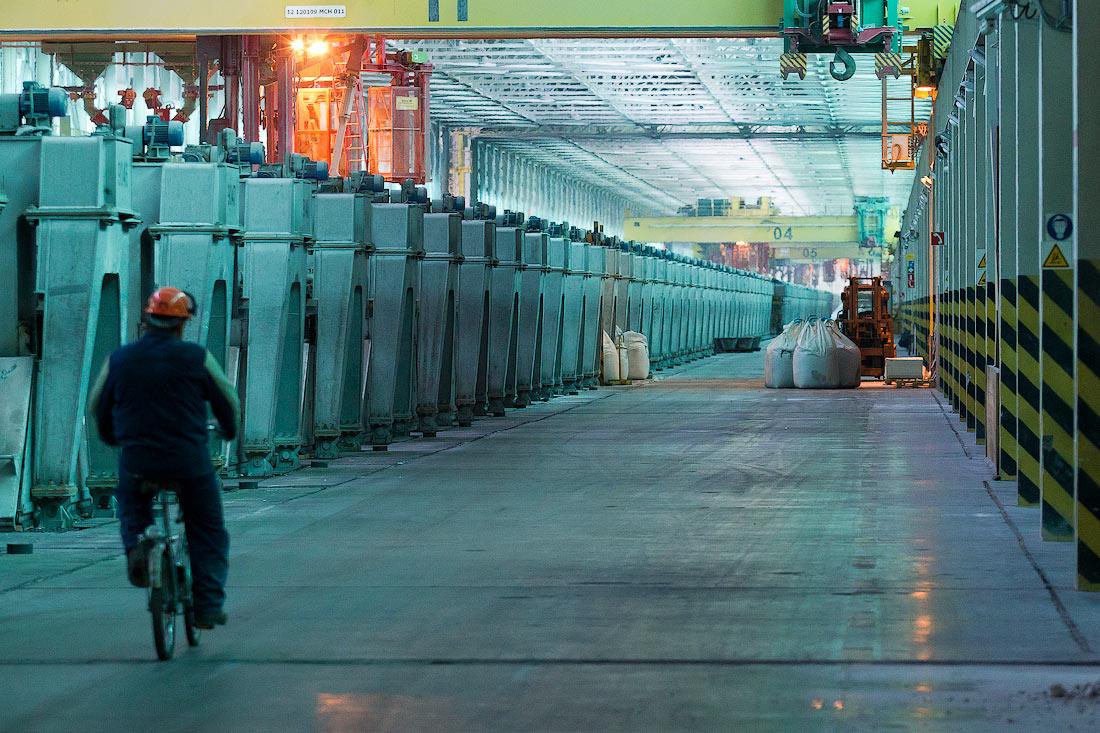 """Производство алюминия  """"Русалом """" уменьшилось на 100 тыс. т."""