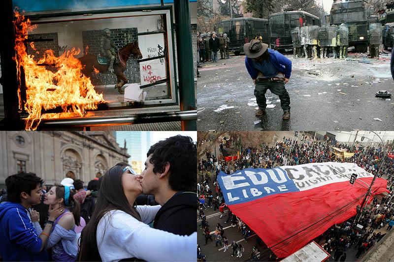 Массовые протесты вЧили