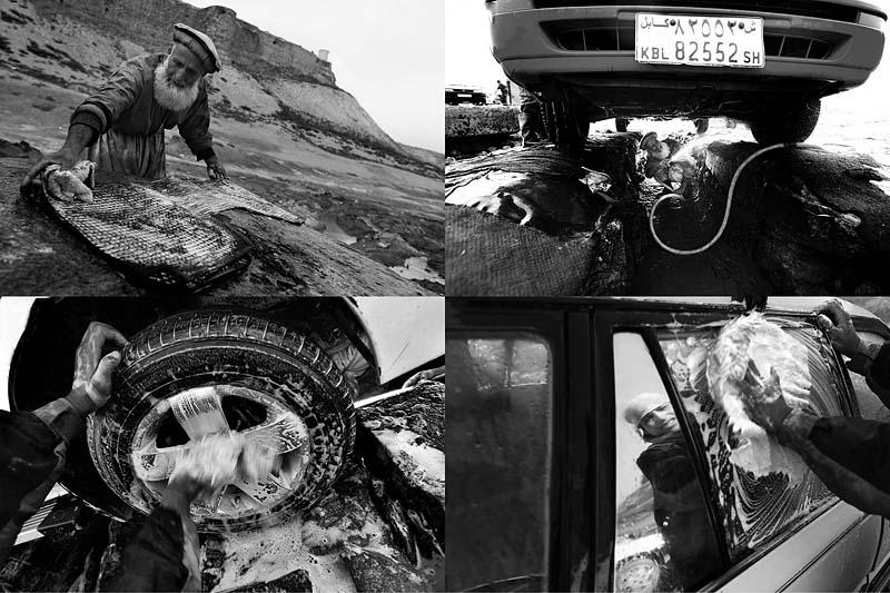 На автомойке в Афганистане