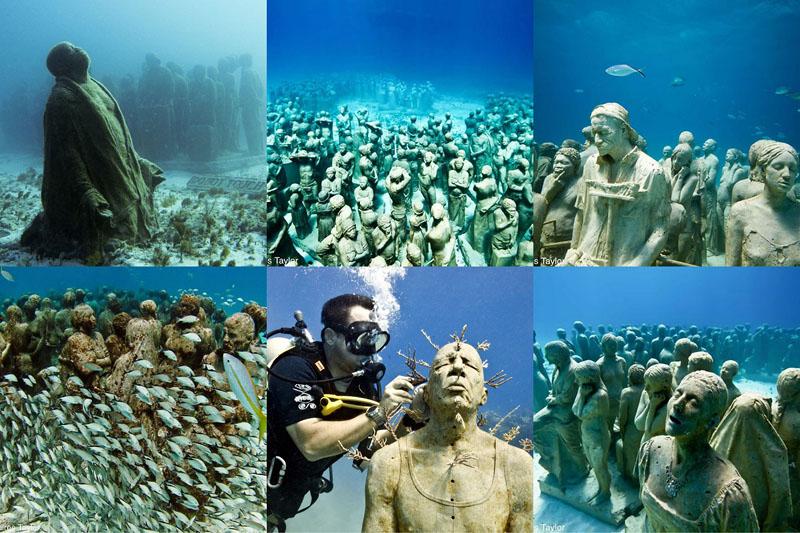Подводные скульптуры превращаются в чудеса природы