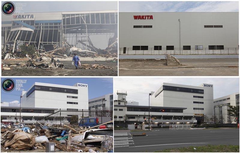 BIGPIC54 Природная катастрофа в Японии: сразу после удара стихии и 6 месяцев спустя