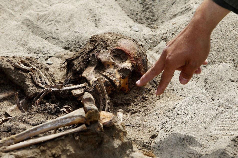 bones01 Di Peru, menemukan sisa-sisa anak-anak dikorbankan