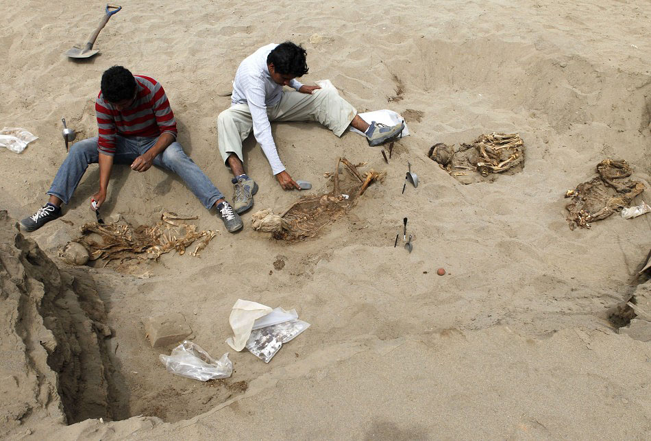 bones03 Di Peru, menemukan sisa-sisa anak-anak dikorbankan