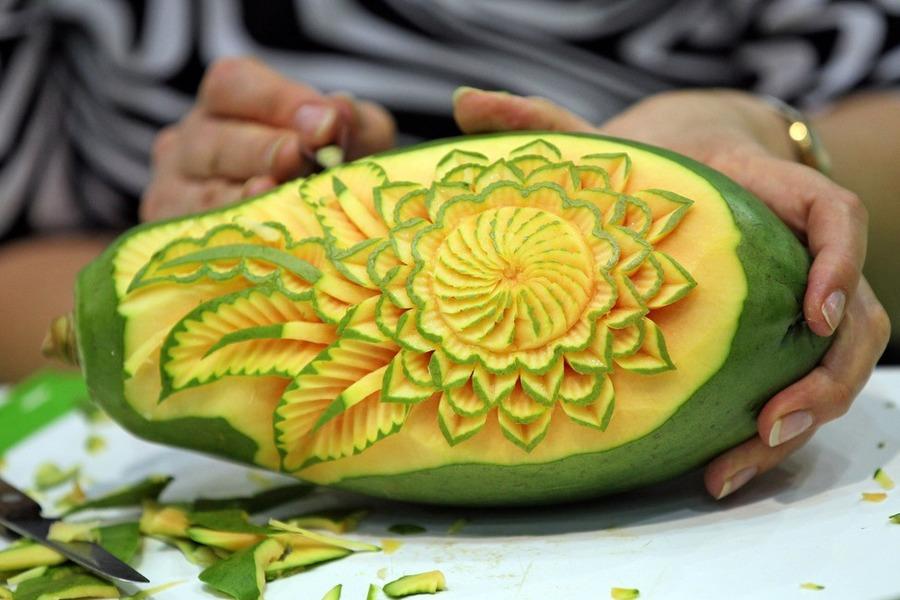 Карвинг из фруктов овощей мастер класс видео