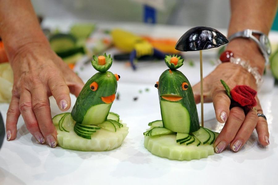 Украшение из овощей своими руками поделки 16