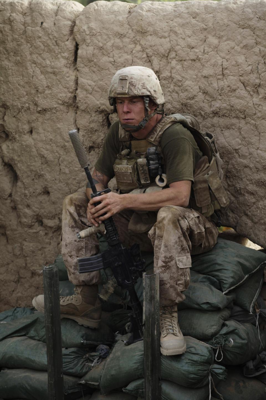 marines07 patroli di Afghanistan dasar 302