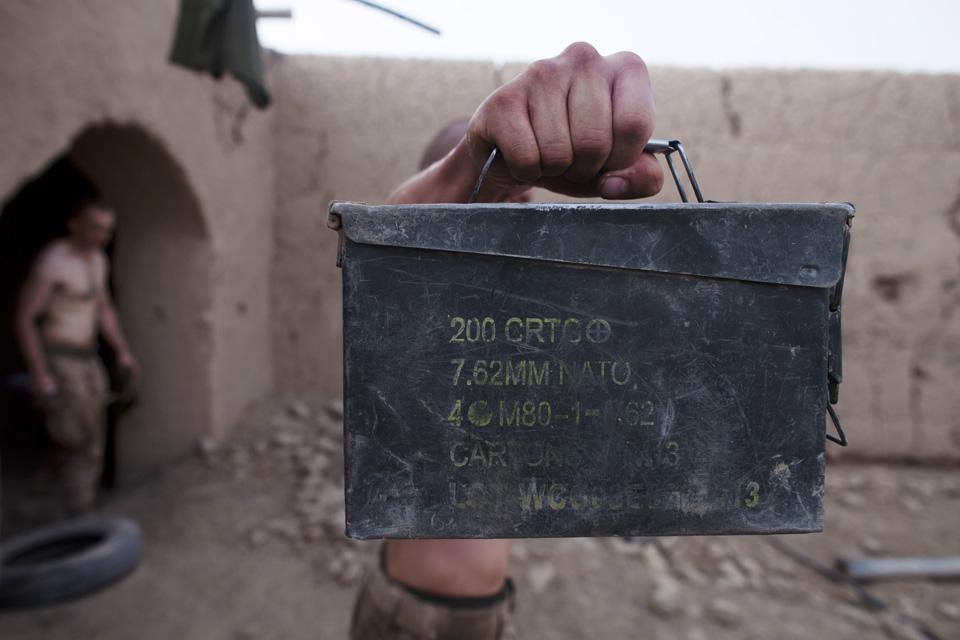 marines10 patroli di Afghanistan dasar 302