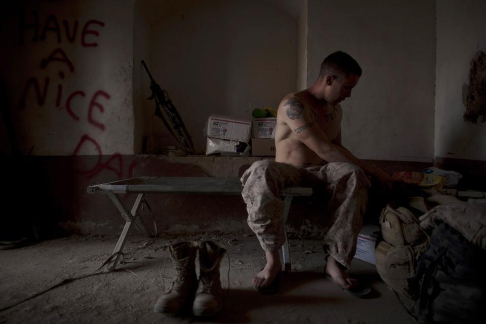 marines22 patroli di Afghanistan dasar 302